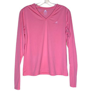 Adidas Climalite Womens Coral V Neck Pullover M
